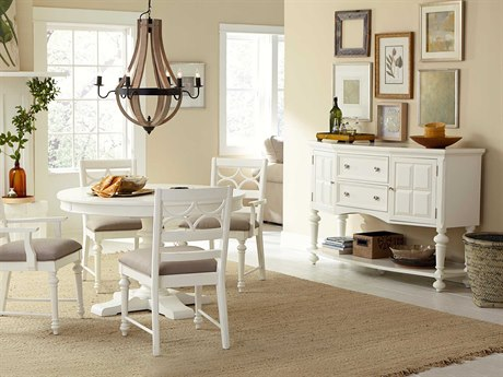 American Drew Lynn Haven Dover White Dining Set
