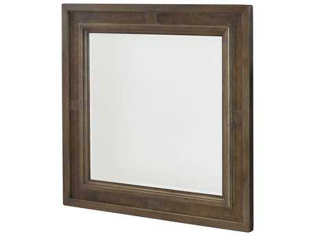 American Drew Park Studio Weathered Taupe with Gray Wash 40'' Wide Square Dresser Mirror