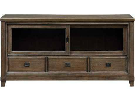 American Drew Park Studio Weathered Taupe with Gray Wash 66''L x 19''W Entertainment Console