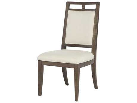 American Drew Park Studio Weathered Taupe with Gray Wash Wood Back Dining Side Chair