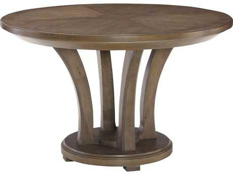 American Drew Park Studio Weathered Taupe with Gray Wash 48'' Wide Round Dining Table