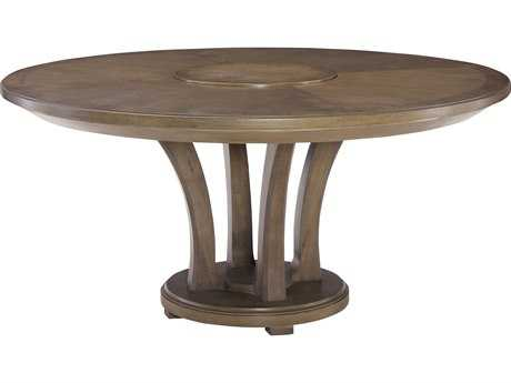 American Drew Park Studio Weathered Taupe with Gray Wash 62'' Wide Round Dining Table