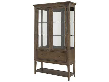 American Drew Park Studio Weathered Taupe with Gray Wash 46''L x 16''W Curio China Cabinet
