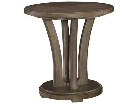 American Drew Park Studio Weathered Taupe with Gray Wash 26'' Wide Round End Table