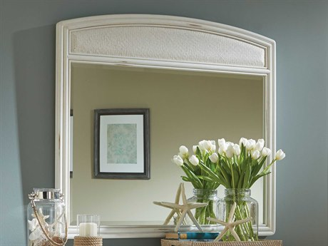 American Drew Siesta Sands White Sands 46''W x 43''H Landscape Dresser Mirror