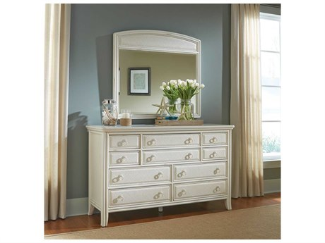 American Drew Siesta Sands Double Dresser & Mirror Set