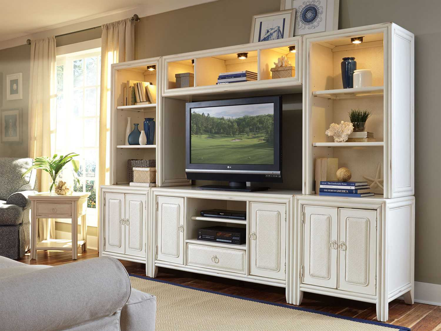 American Drew Siesta Sands White Entertainment Center