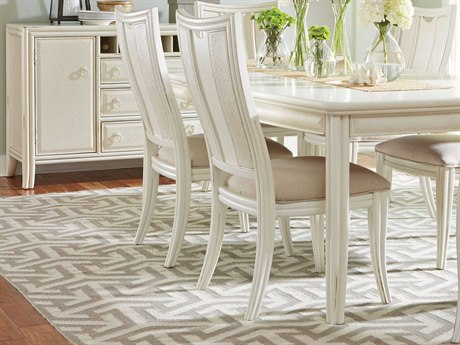 American Drew Siesta Sands White Sands Splat Back Dining Side Chair (Sold in 2)
