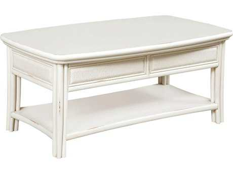 American Drew Siesta Sands White Sands 48''L x 26''W Rectangular Cocktail Table