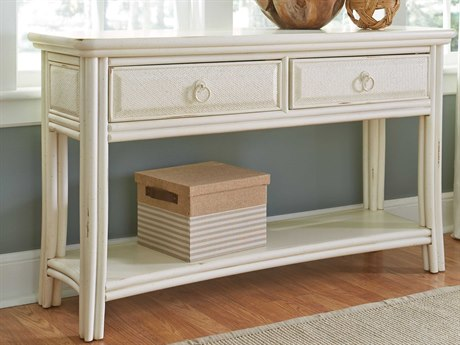 American Drew Siesta Sands White Sands 50''L x 16''W Rectangular Sofa Console Table