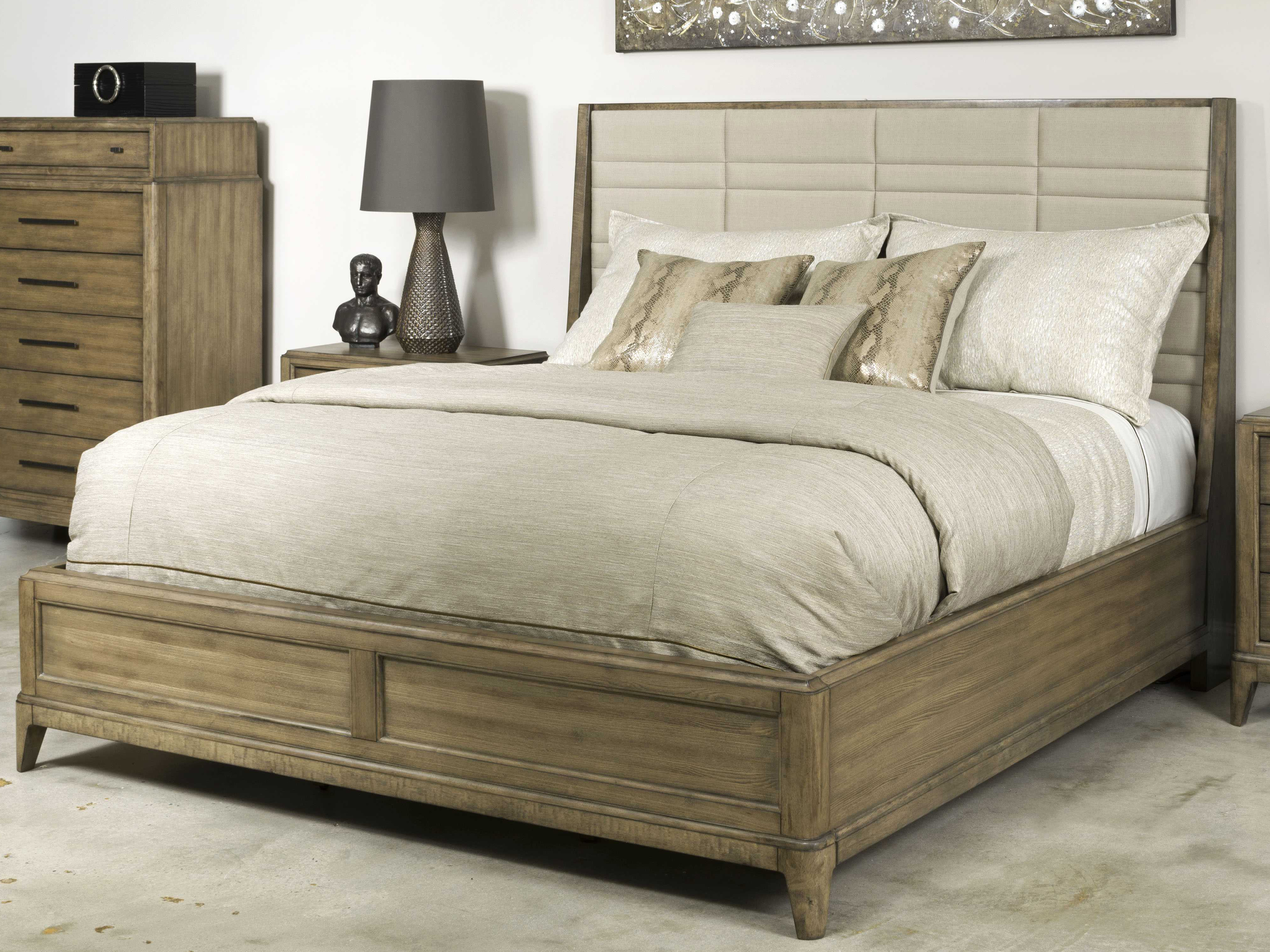 american drew evoke barley king size panel sheltered bed ad509316r. Black Bedroom Furniture Sets. Home Design Ideas