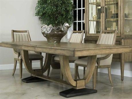 American Drew Evoke Barley 124''L x 42''W Rectangular Trestle Dining Table