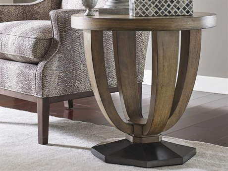 American Drew Evoke Barley 25'' Wide Round End Table