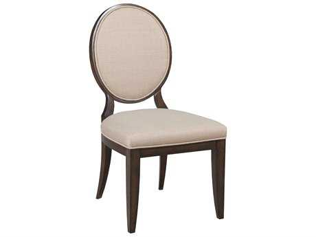 American Drew Grantham Hall Deep Coffee Tone Dining Side Chair with Decorative Back