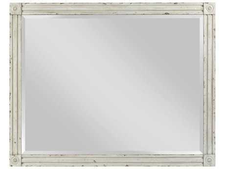 American Drew Southbury White Parchment 48''W x 38''H Rectangular Dresser Mirror