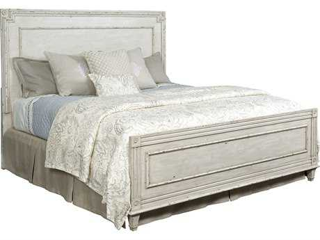 American Drew Southbury White Parchment Queen Size Panel Bed