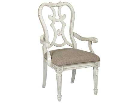 American Drew Southbury White Parchment Cortona Dining Arm Chair