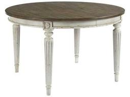 American Drew Southbury White Parchment with Warm Fossil on Top 50'' Wide Round Dining Table