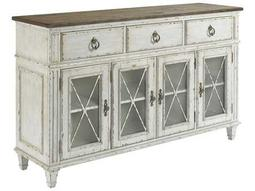 American Drew Southbury White Parchment with Warm Fossil on Top 68''L x 19''W Sideboard