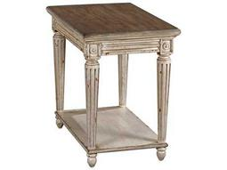 American Drew Southbury Fossil Top / Parchment Base 18'' x 28'' Rectangular Charging Chairside Table