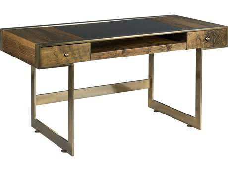 American Drew Modern Organics Smokey Quartz and Burnished Brass 58'' x 26'' Risden Desk