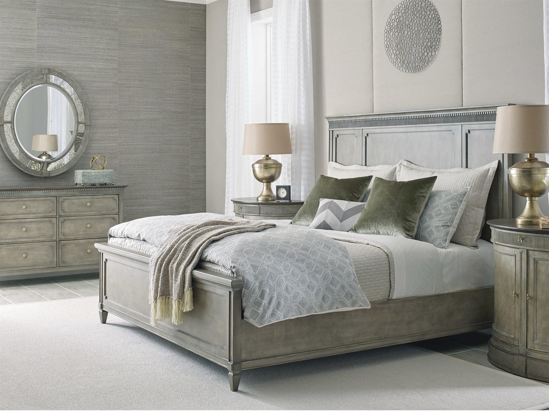 American Drew Savona Katrine Maple And Elm Queen Panel Bed