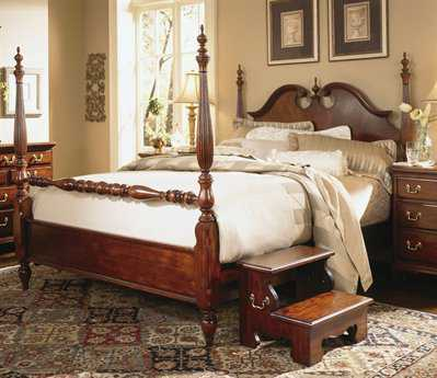American Drew Cherry Grove Classic Antique Low Poster Queen Bed