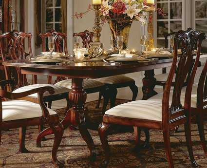 American Drew Cherry Grove Classic 46 x 76 Antique Pedestal Table