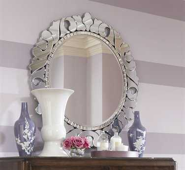 American Drew Jessica Mcclintock Couture 45 Round Wall Mirror