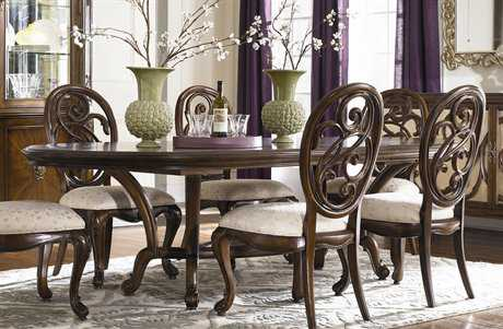 American Drew Jessica Mcclintock Couture Mink 82 x 49 Renaissance Dining Table