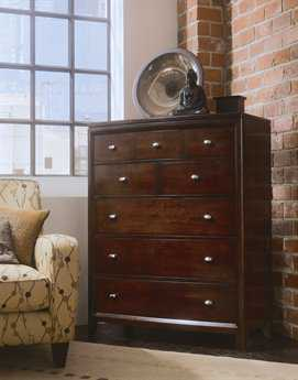 American Drew Tribecca Root Beer Color Drawer Chest