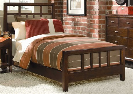 American Drew Tribecca Root Beer Color Slat Full Bed