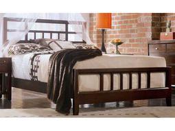 American Drew Tribecca Root Beer Color Slat Queen Bed