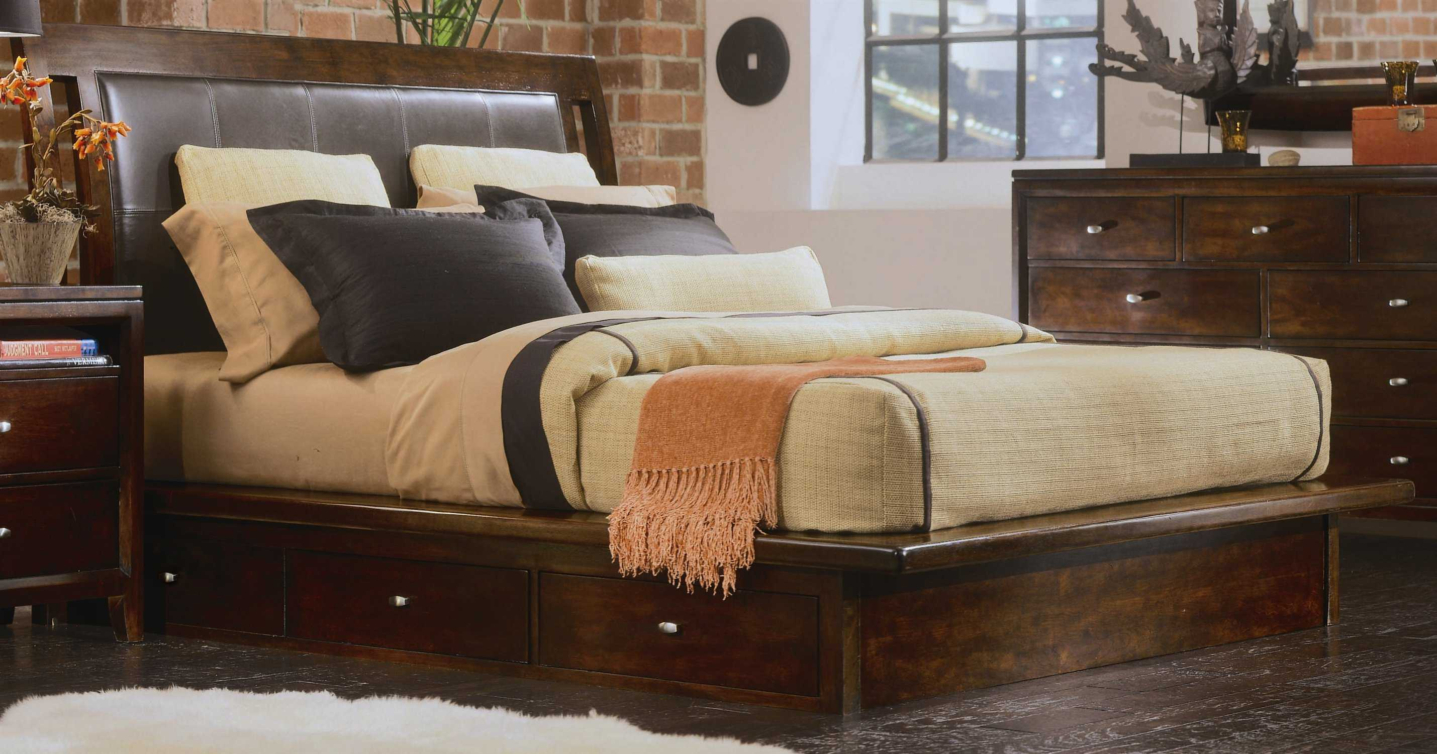 American Drew Tribecca Root Beer Color Platform King Bed Ad912336r