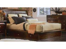 American Drew Tribecca Root Beer Color Platform King Bed