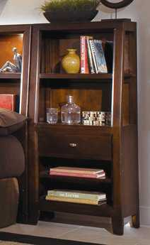 American Drew Tribecca Root Beer Color 24 x 14 Bookcase Nightstand