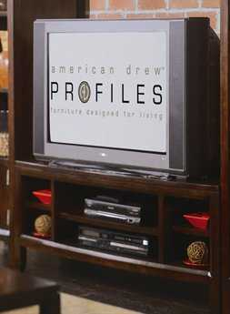 American Drew Tribecca Root Beer Color 51 Entertainment Center
