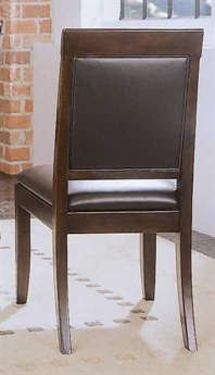 American Drew Tribecca Root Beer Color Upholstered Leather Side Chair (Sold in 2)