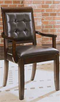 American Drew Tribecca Root Beer Color Upholstered Leather Arm Chair (Sold in 2)