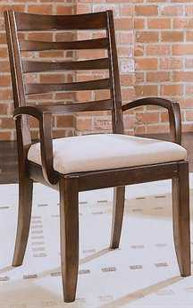 American Drew Tribecca Root Beer Color Splat Arm Chair (Sold in 2)