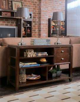 American Drew Tribecca Root Beer 52 x 19 Console Table