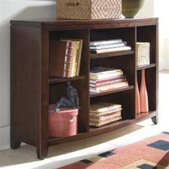 American Drew Tribecca Root Beer Color Bookcase Console