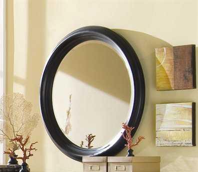 American Drew Camden Dark 39 Round Black Wall Mirror