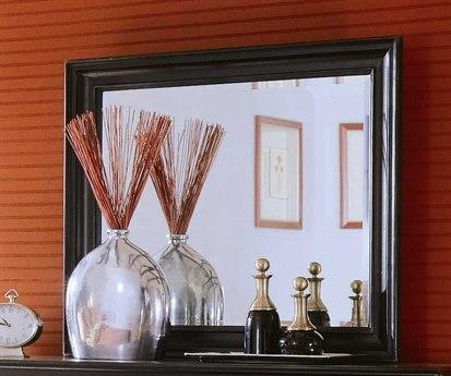 American Drew Camden Dark 41 x 36 Black Dresser Mirror