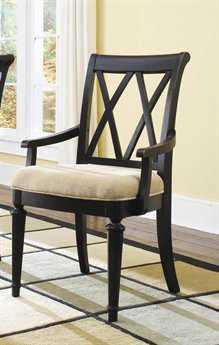 American Drew Camden Dark Black Splat Arm Chair (Sold in 2)