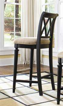 American Drew Camden Dark Black Bar Stool