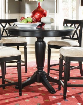 American Drew Camden Dark Black Round Counter Height 42 Pedestal Table