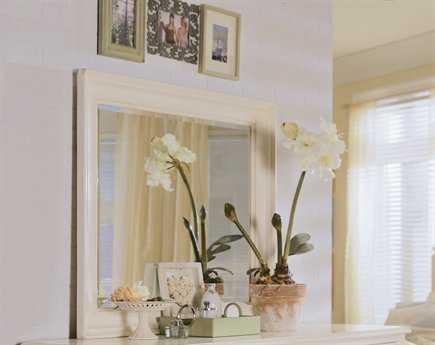 American Drew Camden Buttermilk 41 x 36 White Dresser Mirror