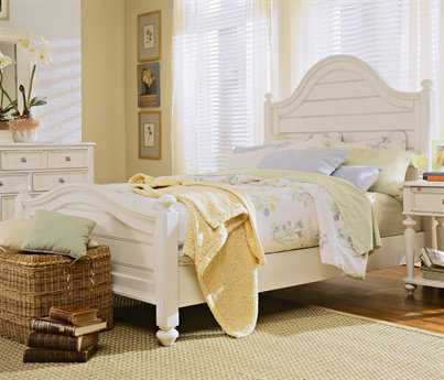 American Drew Camden Buttermilk King Panel Bed