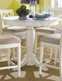 American Drew Camden Buttermilk 42 Round Counter Height Pedestal Table